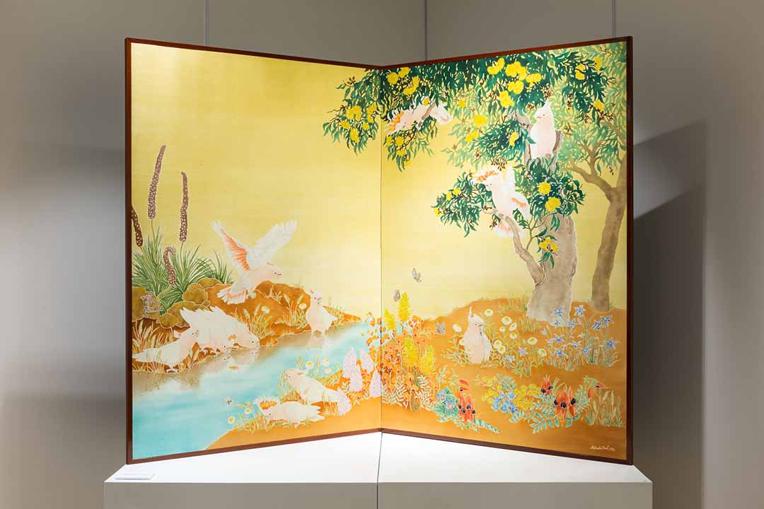 Major Mitchell's Cockatoos (Folding Screen) 2012.